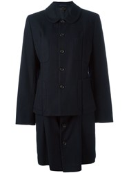 Comme Des Gara Ons Vintage Button Coat Blue
