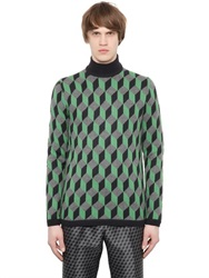 Christopher Kane 3D Cube Wool Sweater