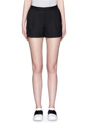 Vince Scalloped Hem Tailored Shorts Black