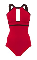 Ward Whillas Beaumont Reversible Swimsuit Red