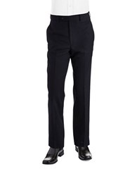 Lauren Ralph Lauren Classic Fit Mid Weight Flat Front Wool Trouser Pants Navy