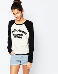Wildfox Couture Wildfox Howl At The Moon Baggy Beach Jumper White