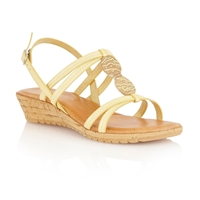 Lotus Leona Open Toe Sandals Yellow
