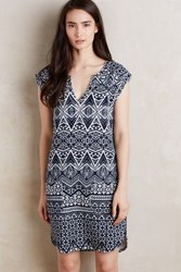 Anthropologie Leyma Terry Tunic Blue Motif