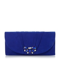 Untold Buena Pleated Trim Bag Blue