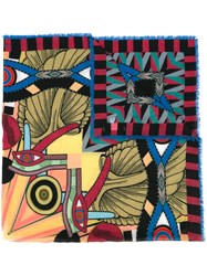 Givenchy Egyptian Square Print Scarf