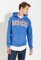Forever 21 Junk Food Nfl Denver Broncos Hoodie Blue Orange