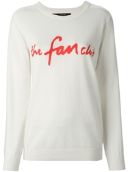 Sibling 'The Fan Club' Sweater White