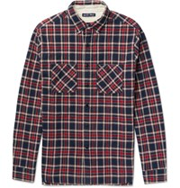 Alex Mill Slim Fit Plaid Brushed Cotton Flannel Shirt Red