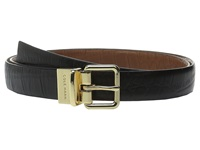 Cole Haan 25Mm Reversible Embossed Croco Belt Black Brown Women's Belts