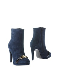 Galliano Ankle Boots Dark Blue