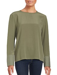 Equipment Liam Silk Blouse Dusty Olive