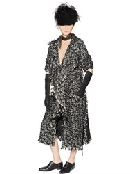 Lanvin Wool And Cotton Blend Tweed Coat