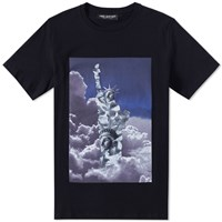 Neil Barrett Clouds Tee Black