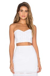 Nightcap Diamond Lace Corset White