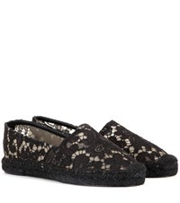 Dolce And Gabbana Lace Espadrilles Black