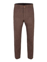 Gibson Men's Rust Herringbone Trouser Copper