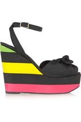 Charlotte Olympia Miranda Rubber Wedge Sandals