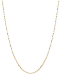 Macy's 14K Gold Necklace 18' Open Box Chain
