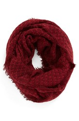 Women's Bp. Textured Knit Infinity Scarf Red Rumba