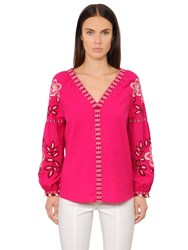 Tory Burch Therese Embroidered Cotton Toile Tunic