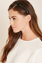 Forever 21 Faux Leather Bow Headband