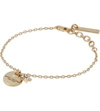Marc Jacobs Coin And Star Charm Bracelet Crystal Gold