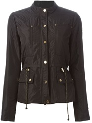 Armani Jeans Buttoned Quilted Jacket Black