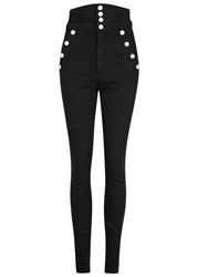 Isabel Marant Marvin High Rise Buttoned Jeans Black