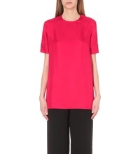Nina Ricci Tie Sleeve Silk Top Bright Red