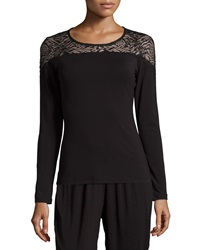 Cosabella Orsay Long Sleeve Lounge Top Black