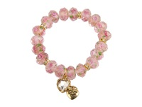 Betsey Johnson Tzarina Pink Beads Stretch Bracelet Pink Bracelet
