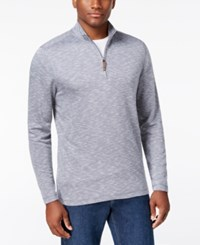 Tasso Elba Men's Quarter Zip Up Pullover Only At Macy's Navy Ink Combo