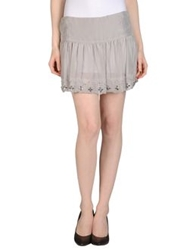 Richmond X Mini Skirts Light Grey