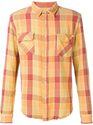 Levi's Vintage Clothing Checked Shirt Yellow And Orange