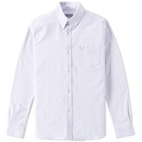 Fred Perry Reissues Heavy Oxford Shirt Blue
