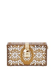 Dolce And Gabbana Embellished Perspex Clutch