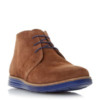 Linea Climb Suede Chukka Boots Brown