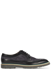 Paul Smith Grand Black Leather And Suede Brogues