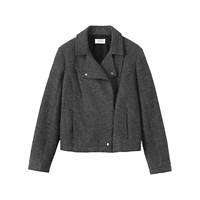 Toast Bolied Wool Biker Jacket Grey