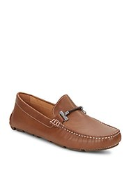 Saks Fifth Avenue Braid Trimmed Driving Shoes Tan