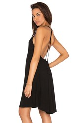 Blq Basiq Cross Back Tank Dress Black