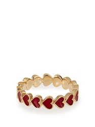 Alison Lou Enamel And Yellow Gold Heart Ring