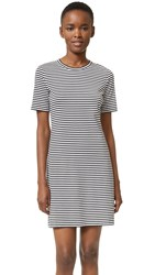 Theory Cherry B2 Dress Black White
