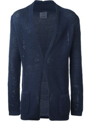 Laneus Open Knit Cardigan Blue