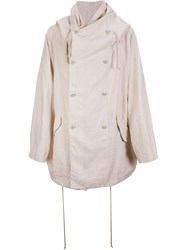 One Stroke Layered Oversized Hooded Coat Nude And Neutrals