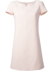 Courreges High Sweetheart Neckline Dress Pink And Purple