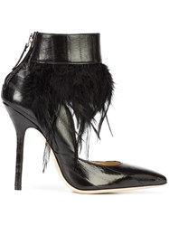 Racine Carree Feather Detail Shoe Boots Black