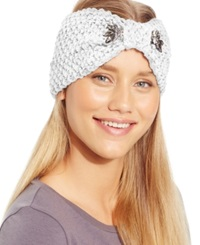David And Young Triple Stone Cinched Headwrap White