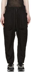 Attachment Black Woven Pinstripe Trousers